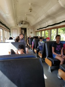 Ms. Brown's class rides the train!