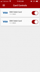 Then toggle the card off or on as you need.