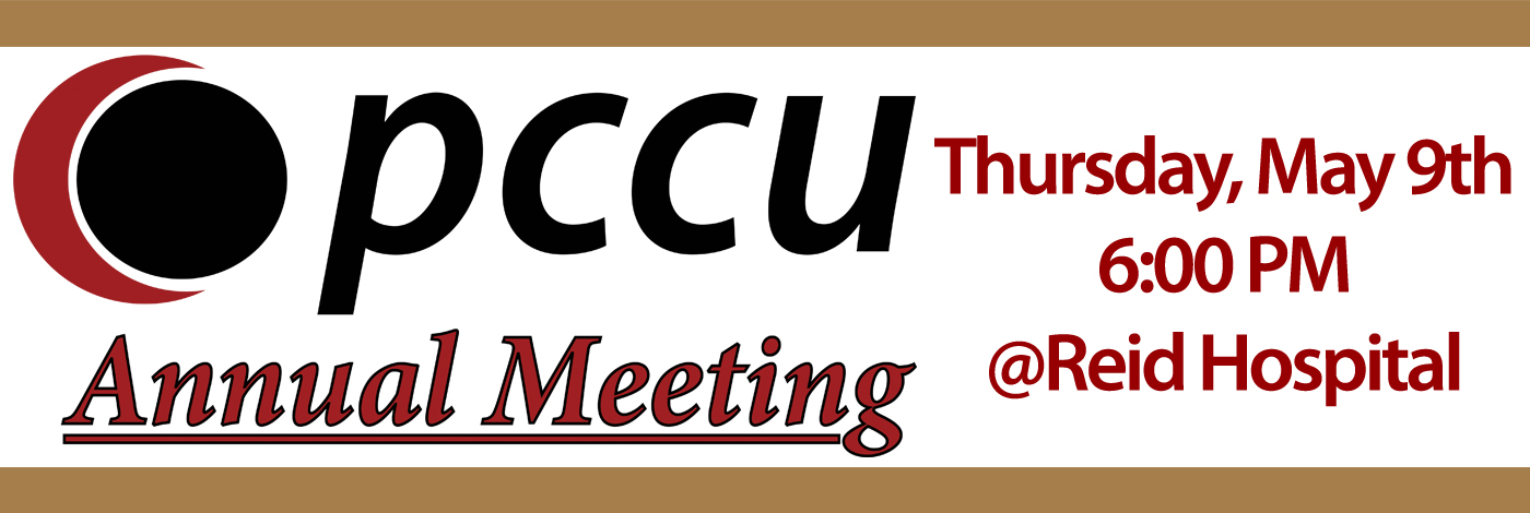 Annual Meeting Thursday May 9th at 6:00 pm in Reid Hospital